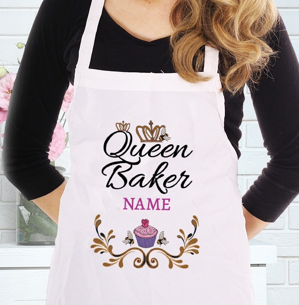 Queen Baker Personalised Apron