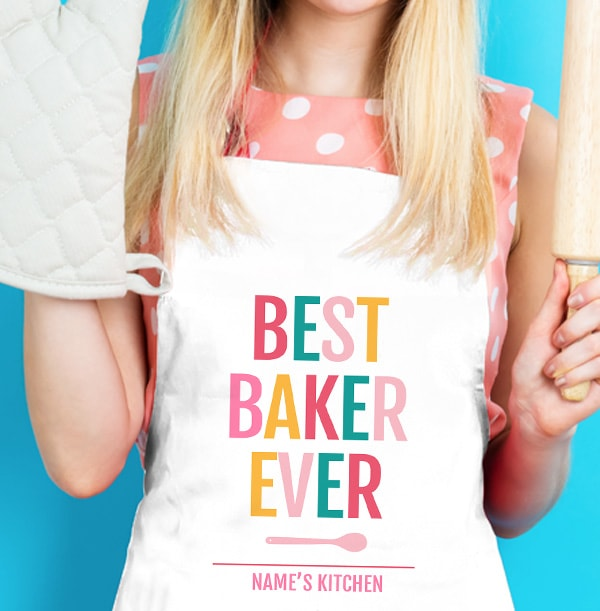 Best Baker Ever Personalised Apron