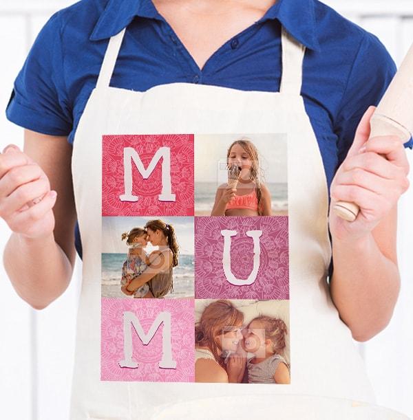 Mum Multi Photo Apron