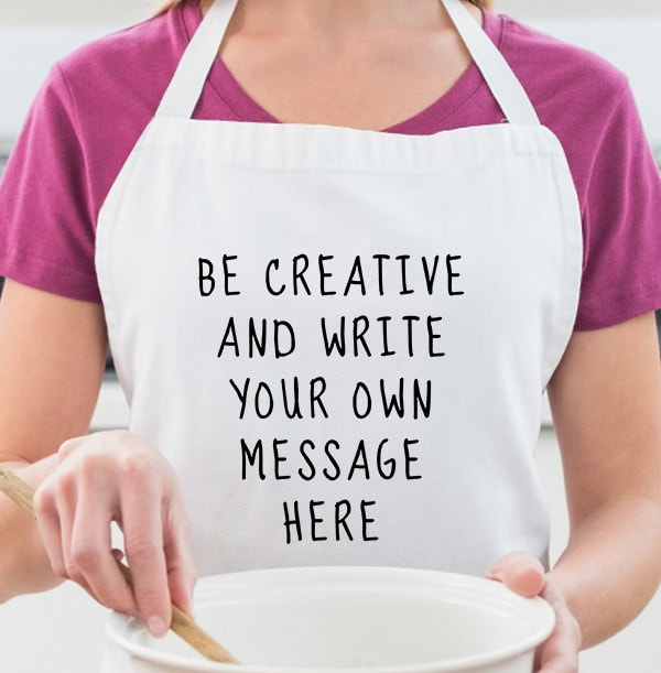 Your Own Personalised Text Apron