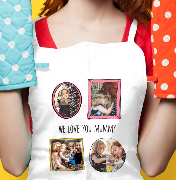 We Love You Mummy Photo Apron