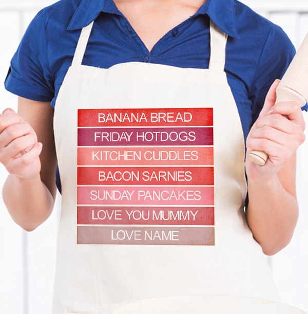 Personalised Mother's Day Pink Apron