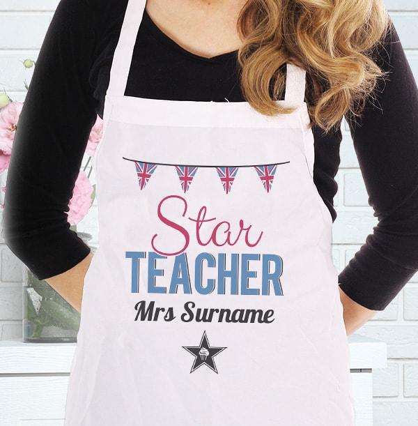 Star Teacher Personalised Apron
