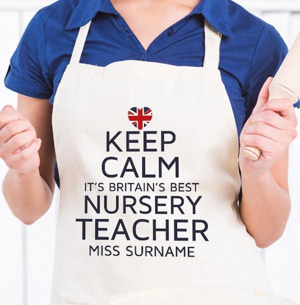 Best Nursery Teacher Personalised Apron