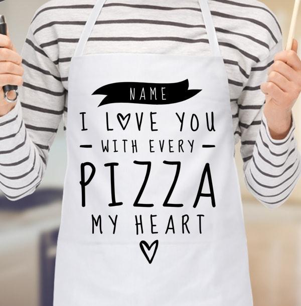 I Love Pizza Personalised Apron
