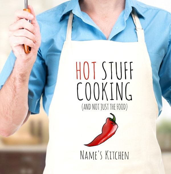 Hot Stuff Cooking Personalised Apron