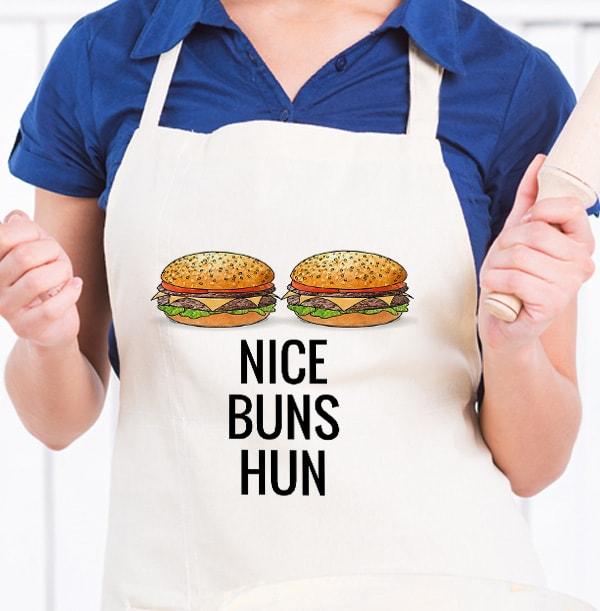 Nice Buns Hun Personalised Apron