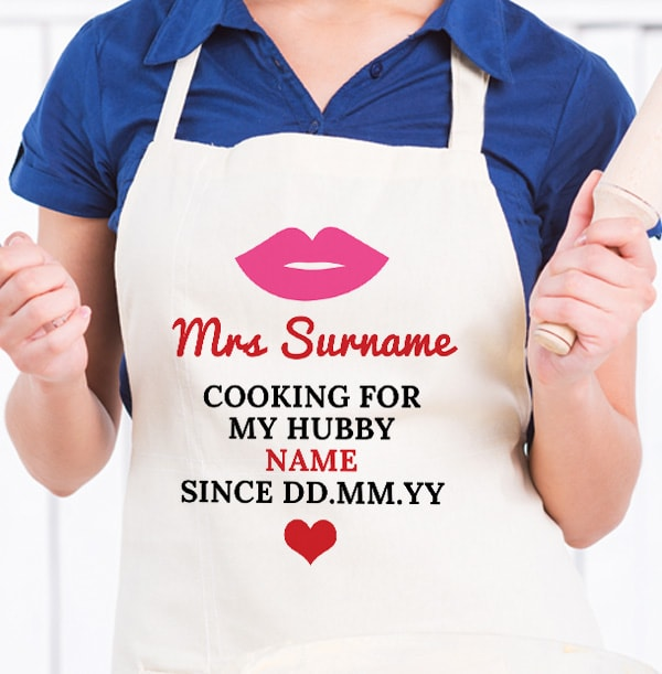 Cooking for My Hubby Personalised Apron