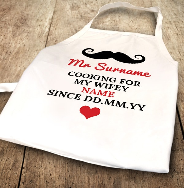 Cooking for My Wifey Personalised Apron
