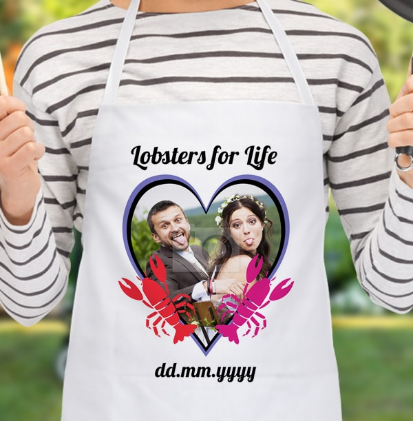 Lobsters for Life Personalised Photo Apron