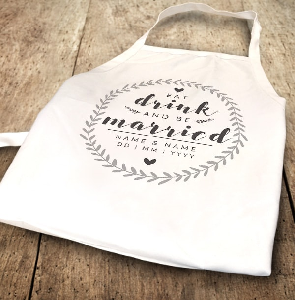 Eat, Drink & be Married Personalised Apron