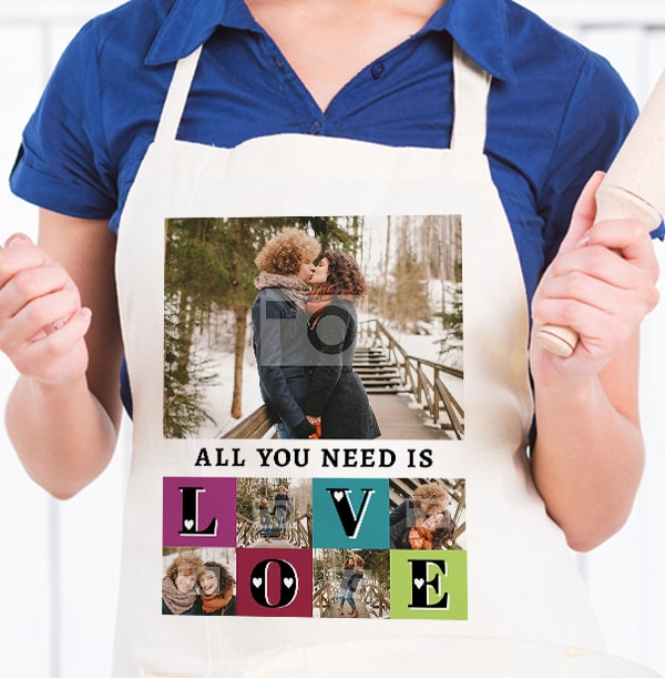 All You need is Love Personalised Photo Apron