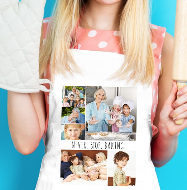 Never Stop Baking Personalised Apron