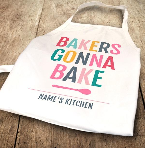 Bakers Gonna Bake Personalised Apron