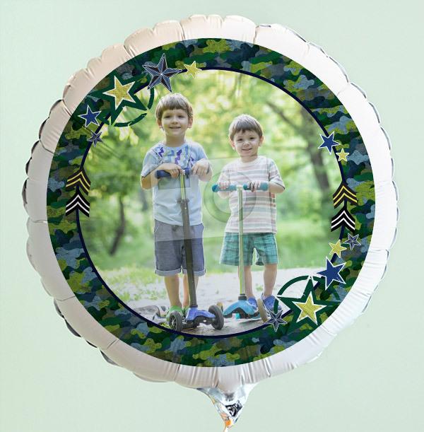 Green Border Personalised Photo Balloon