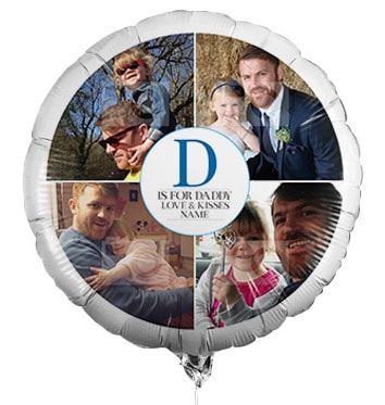 Personalised  D Is For Daddy Full Photo Balloon