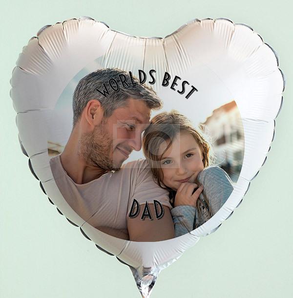 World's Best Dad Photo Balloon