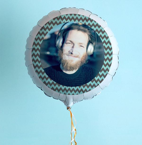 Personalised Photo Balloon - Chevron Border