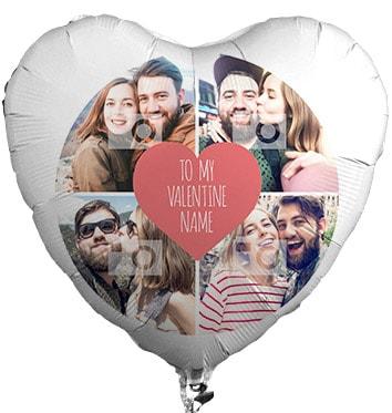 4 Photo Upload Love Heart Bouquet