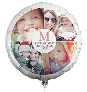 M for Mummy Personalised Multi Photo Balloon