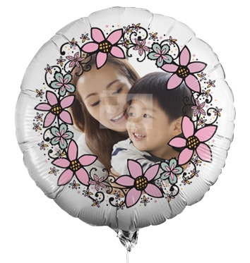 Personalised Full Photo Balloon - Floral Border