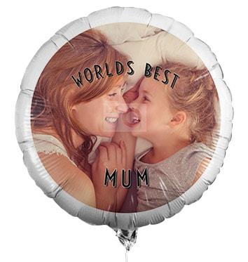 World's Best Mum Photo Balloon
