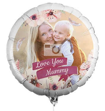 Love You Mummy Photo Balloon