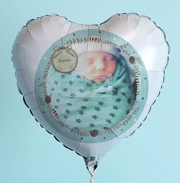 New Baby Boy Photo Balloon