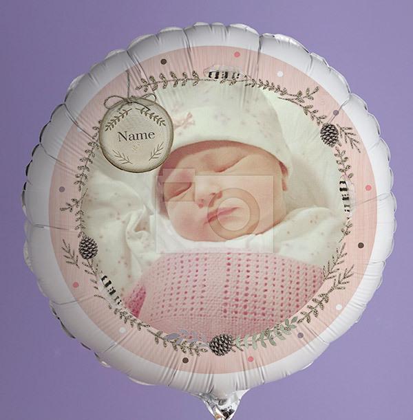 New Baby Girl Photo Balloon