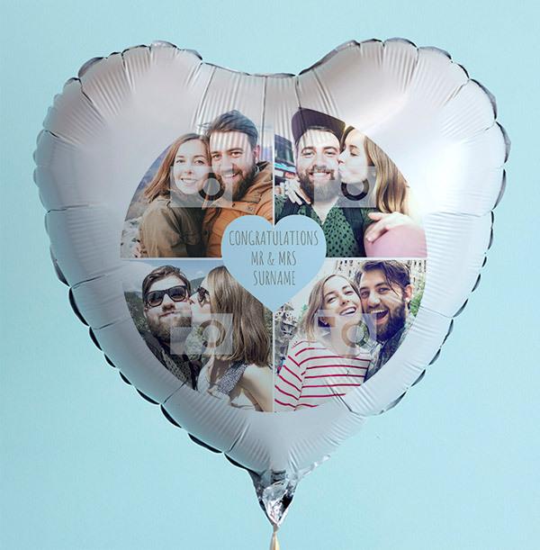 Happy Wedding Day Photo Collage Balloon