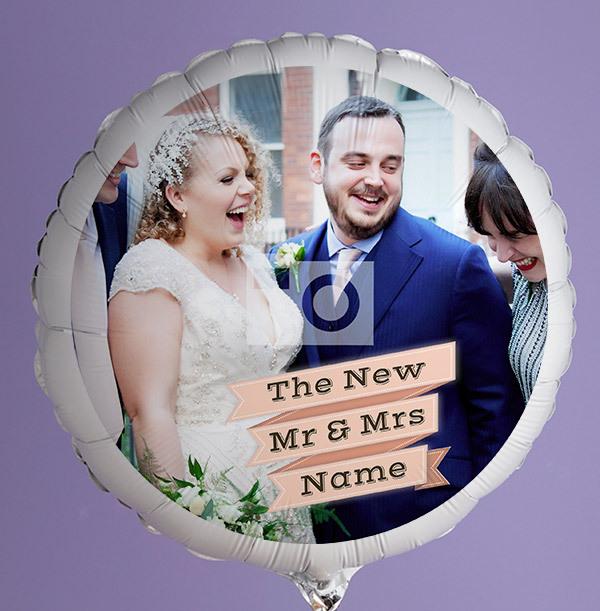 The New Mr & Mrs Photo Balloon