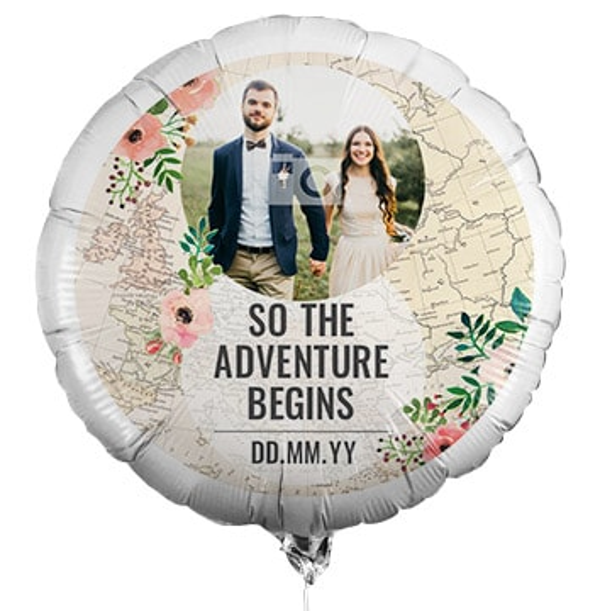 The Adventure Begins Photo Balloon