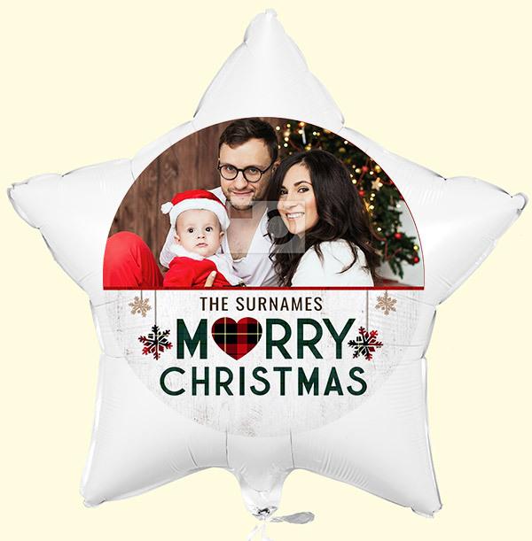 Personalised Merry Christmas Photo Balloon