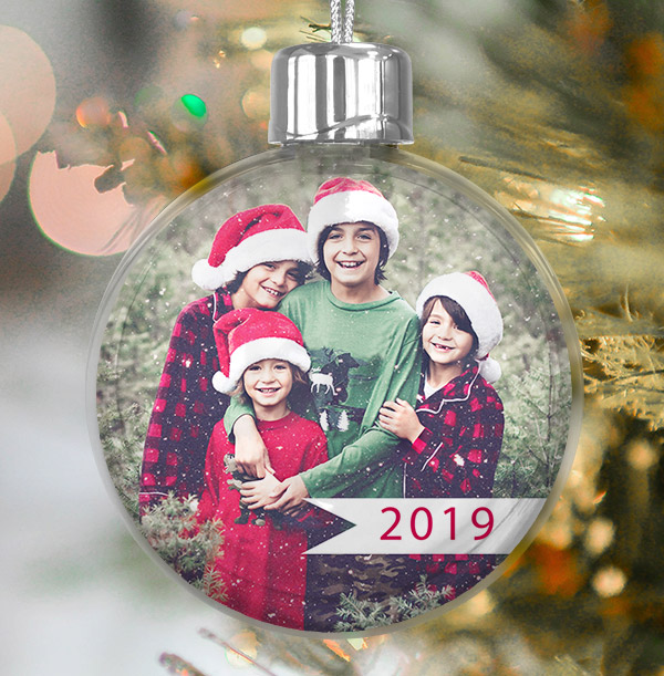Personalised Year Photo Bauble