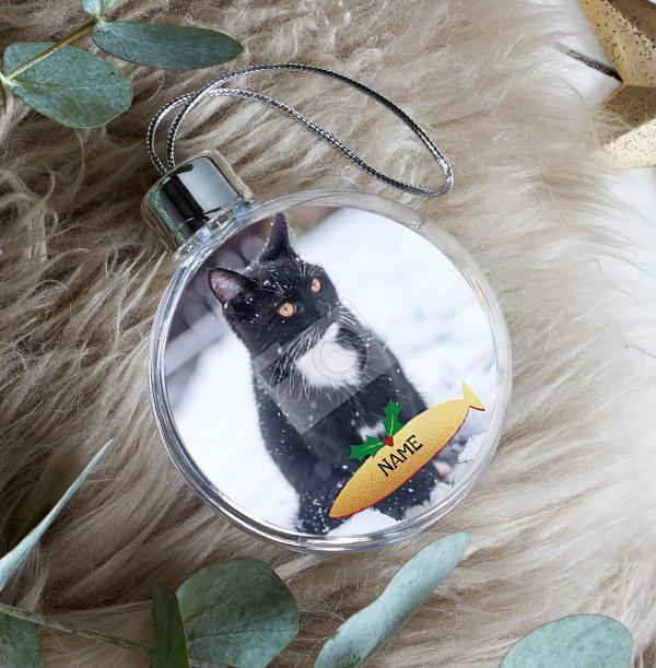 Cat Photo Bauble