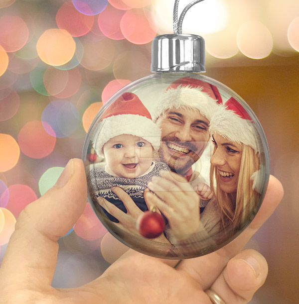 Personalised Full Photo Bauble