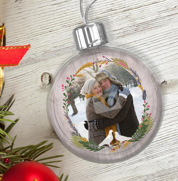 Christmas Wreath Photo Bauble