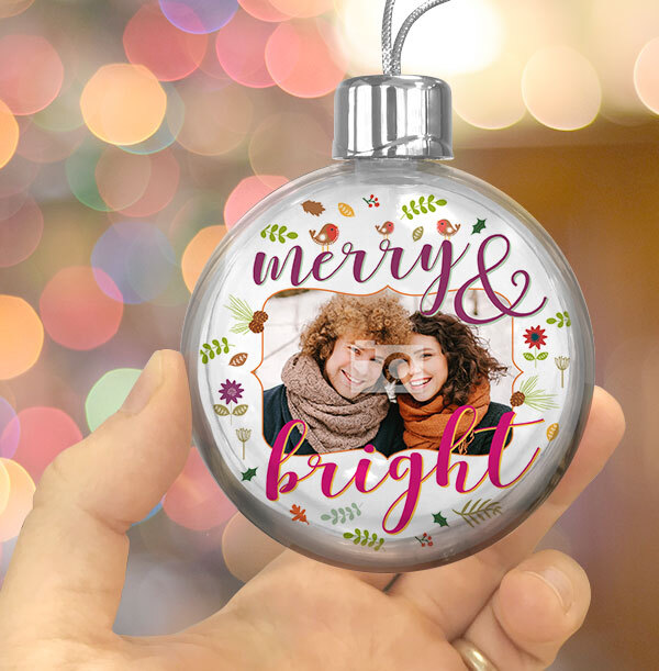 Merry & Bright Photo Bauble