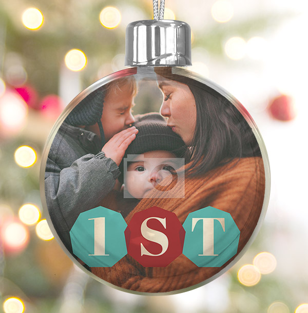 First Christmas Photo Bauble
