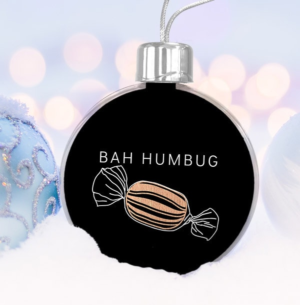 Bah Humbug Christmas Personalised Bauble