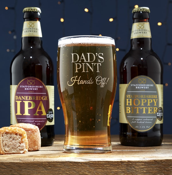 Beer and Dad Pint Glass Gift Set