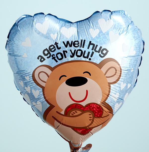 Get Well Big Hug Heart Balloon