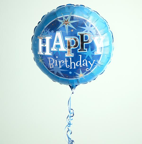 Blue Happy Birthday Balloon For Him