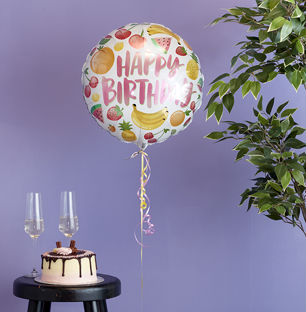 Happy Birthday Fruits Balloon