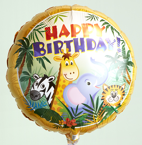 Happy Birthday Jungle Balloon