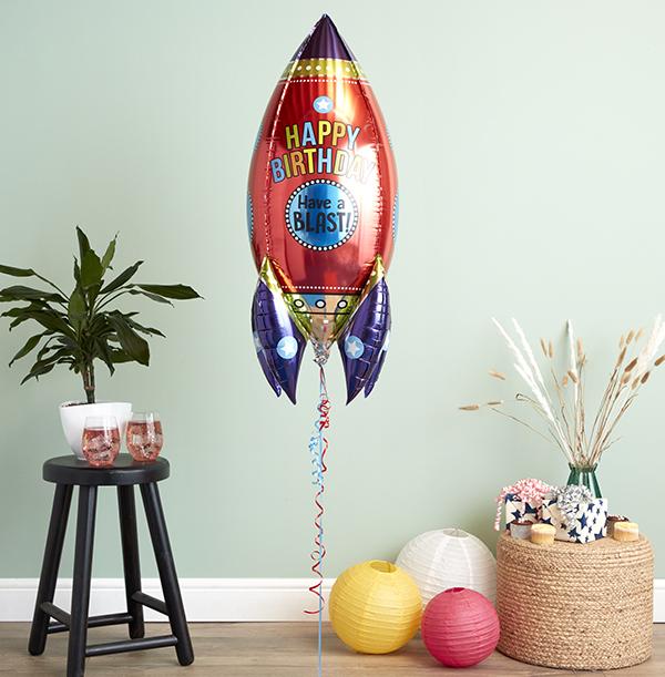 Birthday Blast Rocket Balloon