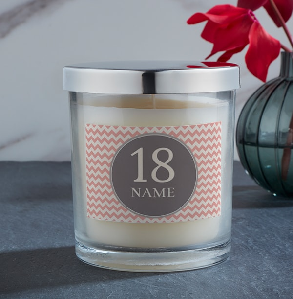 Personalised Milestone Age Candle