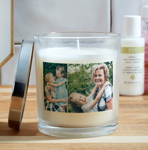 2 Photo Upload Candle