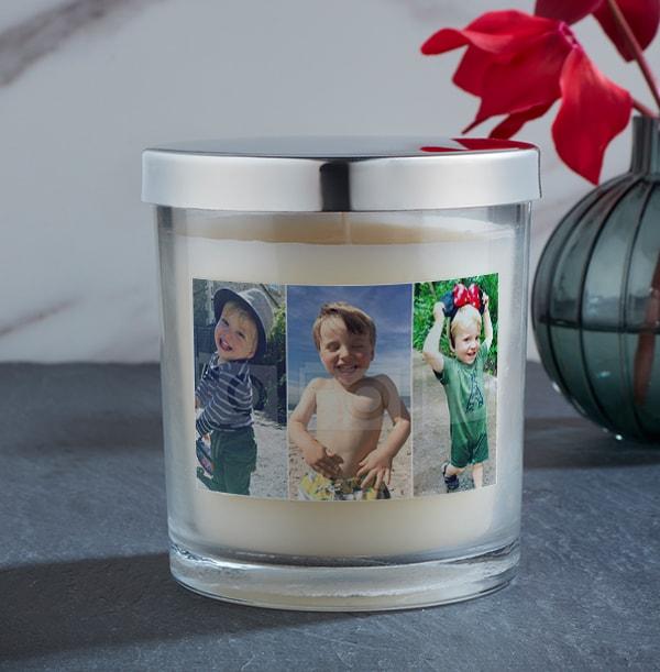 3 Portrait Photo Upload Candle