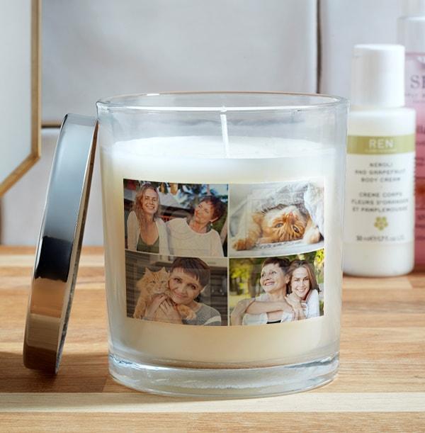 4 Photo Upload Candle